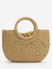 Minimalist Straw Tote Bag for Vacation