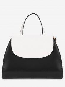 حقيبة الغرض متناقضة اللون فلات كل يد  - أسود
