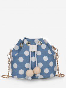 لون كتلة بولكا دوت سلسلة حقيبة كروسبودي - الفراشة الزرقاء