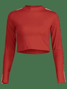 Rojo Rayada L Rojo Estampada Estampada Camiseta Camiseta Rayada Txxq1wFa