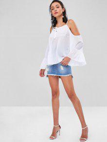Blusa Blanco Descubiertos S Hombros Con HwrqH6T