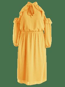 L Corbata De Con Fr 237;os De Grandes En Volantes Escolar Amarillo Tallas 250;s Vestido Y Autob Hombros 5qaBfwEn