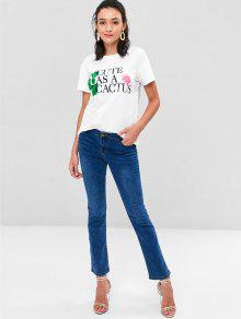 Blanco Camiseta Relaxed Cactus L Graphic gqa8wU