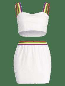 Falda S Cuadrado Cuello Mini De Blanco nFqwZFYd