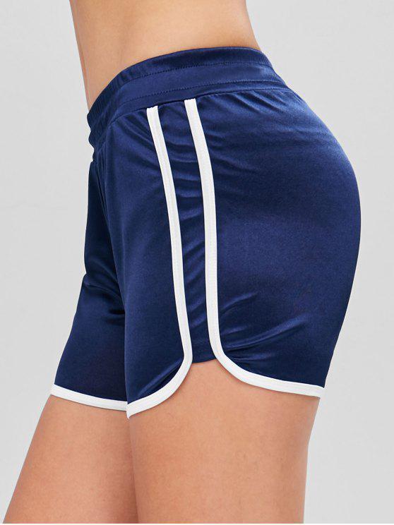 Pantaloncini Sportivi A Contrasto - Blu  Marina L