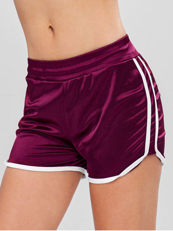 Pantaloncini Sportivi A Contrasto - Marrone M