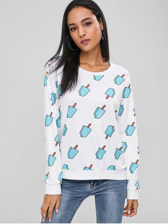 Niedliches Eis Sweatshirt - Weiß S
