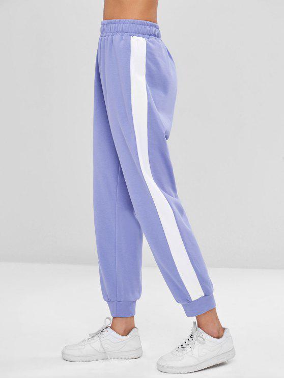 lady Sporty Two Tone Pants - PURPLE MIMOSA L