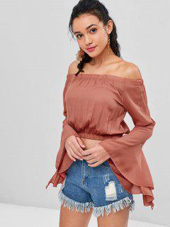 Dramatic Sleeve Off The Shoulder Top - Cherry Red M