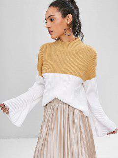 Stehkragen Zweifarbiger Pullover - Makkaroni Und Käse