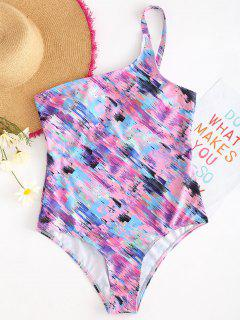 Space Dye One Shoulder Swimsuit - Multi-a S