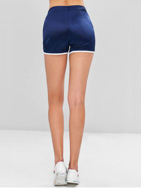 new Shiny Jersey Dolphin Running Shorts - NAVY BLUE L Mobile