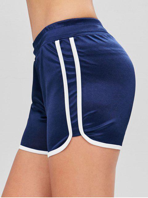 Short De Course Dauphin Jersey Brillant - Bleu Marine M Mobile