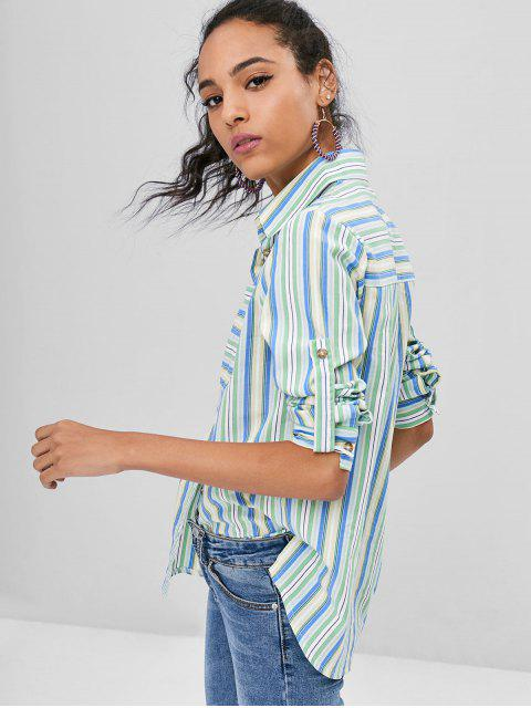 Camisa de rayas con bolsillo - Multicolor M Mobile