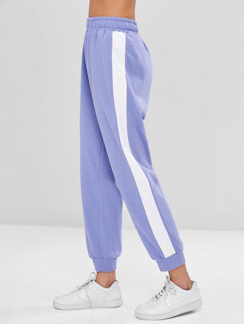 lady Sporty Two Tone Pants - PURPLE MIMOSA L Mobile