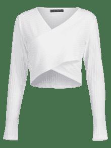 De Bajo Camiseta Superpuesto Corte S Blanco UOqp6aqw