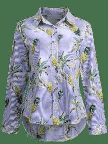 a De Baja Alta De Rayas L Pi Camisa Multicolor TIAwS