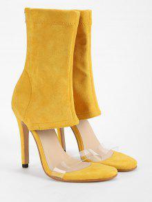 5db685c24ba 46% OFF  2019 Transparent Strap Chic High Heel Bootie Sandals In ...