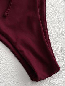 Conjunto Vino Bikini 2x Talla Cordones Tinto Con Bralette Grande ParP4wq