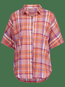Cuadros Con Multicolor A Botones Camisa S 5qwzEf0x