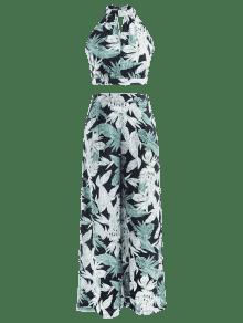 De De Verde Ligero Mar Pantalones De Hojas S Top Conjunto Y 0dYFFq