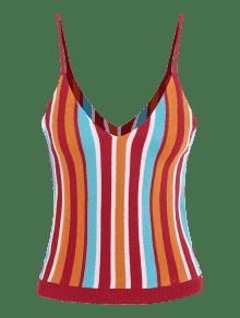 Punto Cami Top A Colores De M Rayas De Multicolor SEUzwR