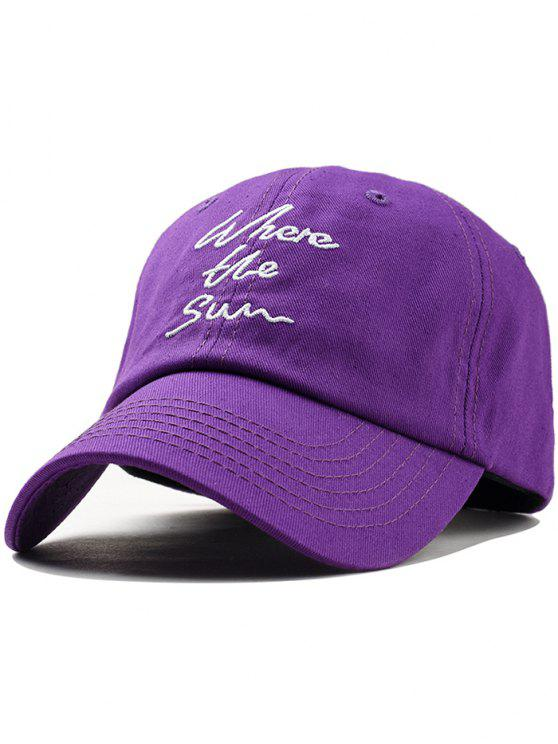 affordable Printed Letters Embroidery Trucker Hat - PURPLE