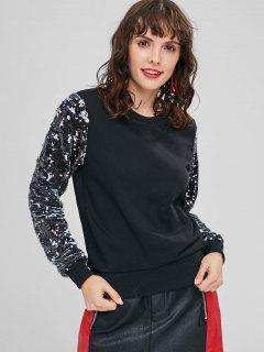 Sweat-shirt à Col Ras Du Cou à Paillette - Noir S