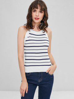 Stripe Sweater Vest - White