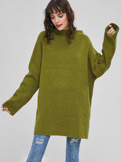 Übergroße Tunika Pullover - Gift Grün
