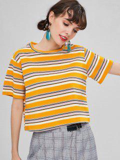 Camiseta A Rayas Chunky - Amarilla De Abeja  L