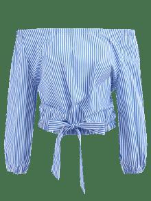 Ar S Blusa Rayas De A 225;ndanos Hombros Azul De SSYH6p8
