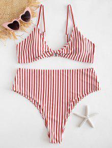 Corte A Rayas Alto Grande 1x Talla De De Multicolor Bikini Conjunto Y 1qExfXwtq