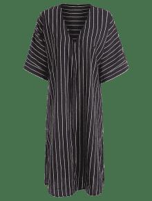 Kimono Largo Rayado Kimono Negro Xl Negro Rayado Largo rrdPx5wq
