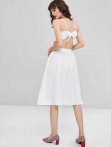 M Piezas De Dos Vestido Blanco Abotonado wTawEX
