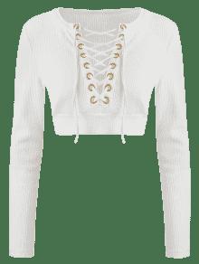 S Con Bajo Corte Blanco Camiseta De Cordones 41qASSRO