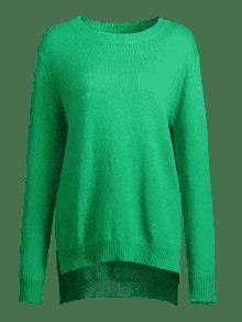 S Su Loose Verde High Low Slit 233;ter OOafqUwnY