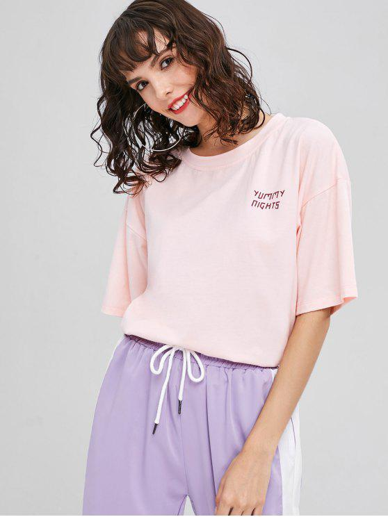 Tee-shirt graphique Yummy Nights - Rose  S
