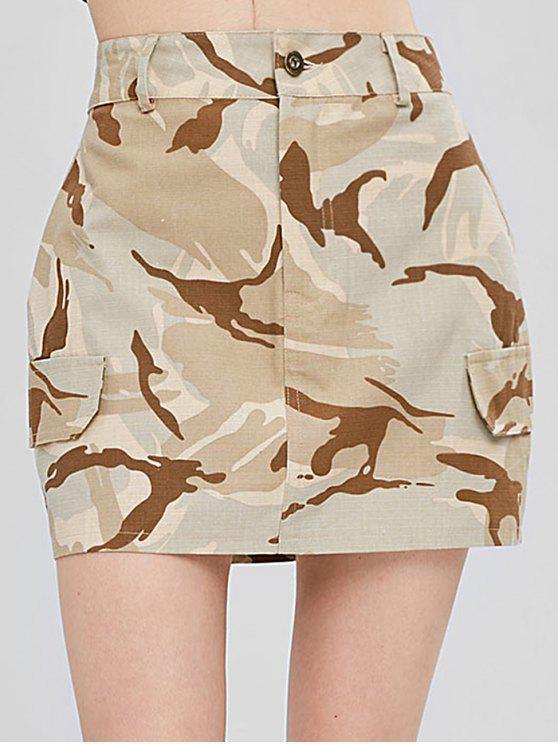 Faux Taschen Camouflage Rock - ACU Tarnanstrich M