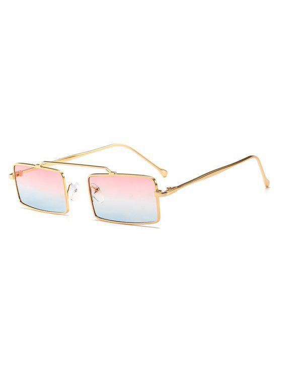 Occhiali Da Sole Con Montatura Rettangolare Di Novita' - Blu Leggero