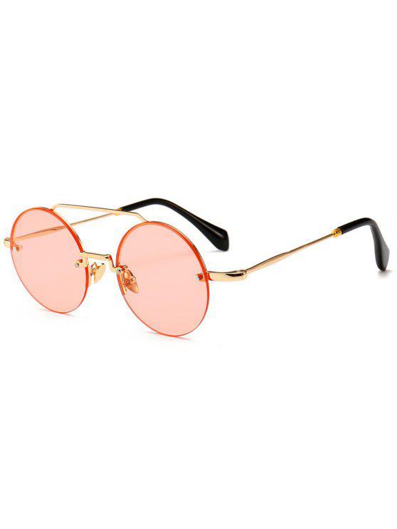 Occhiali Da Sole Non Cerchiati Rotondi Anti Stanchezza - Rosa