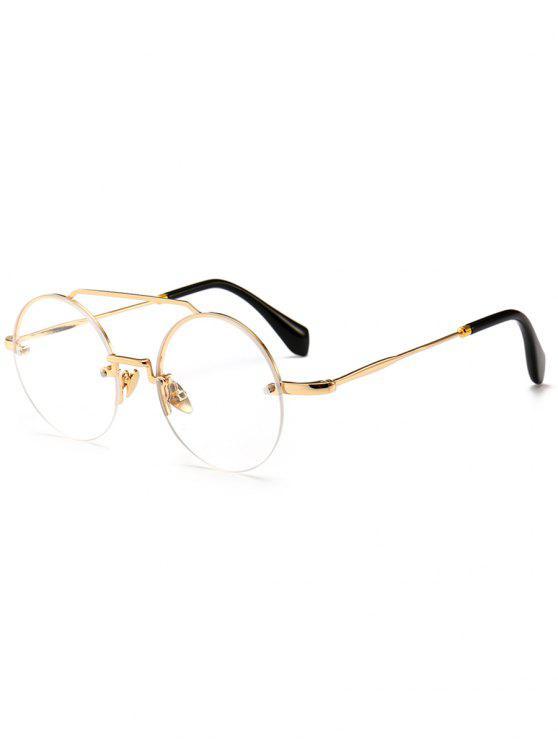 النظارات الشمسية المستديرة الجدة Crossbody بدون إطار - شفاف