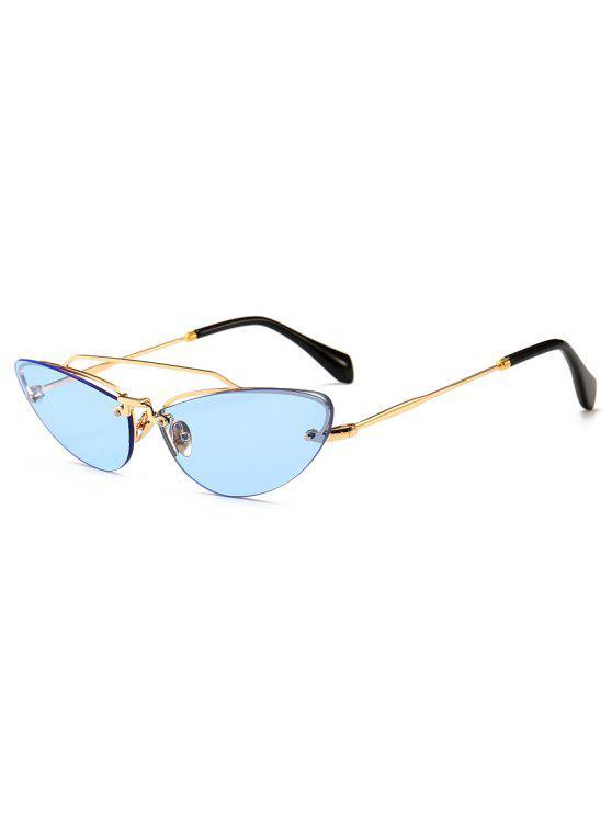 Neuheit Crossbar dekorative randlose Sonnenbrille - Ozeanblau