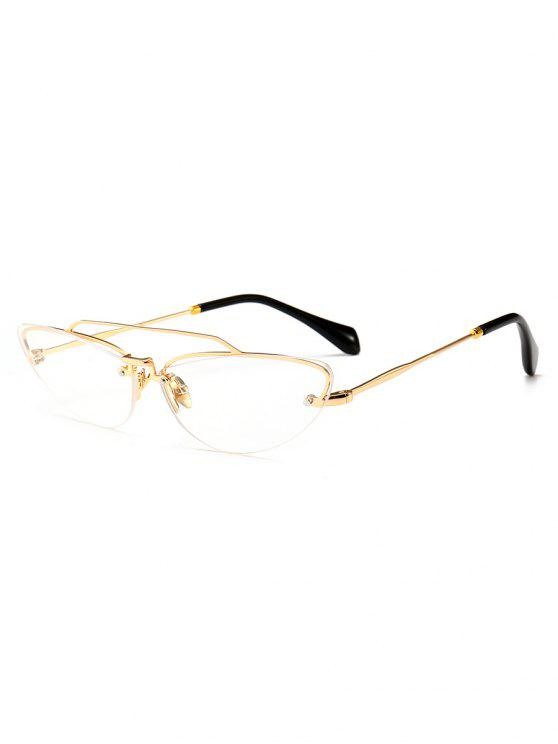 shops Novelty Crossbar Decorative Rimless Sunglasses - TRANSPARENT