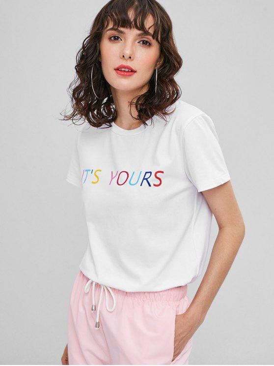 best It' s Yours Graphic Tee - WHITE L