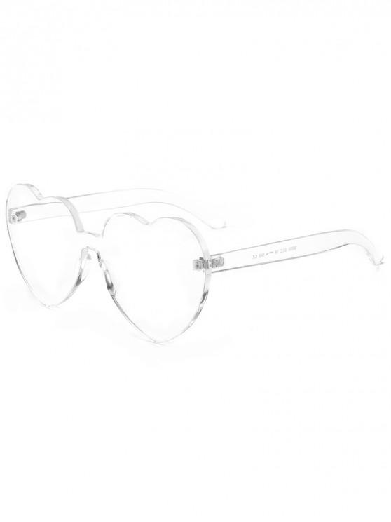 Anti Fatigue Heart Lens Einteilige Sonnenbrille - Transparent