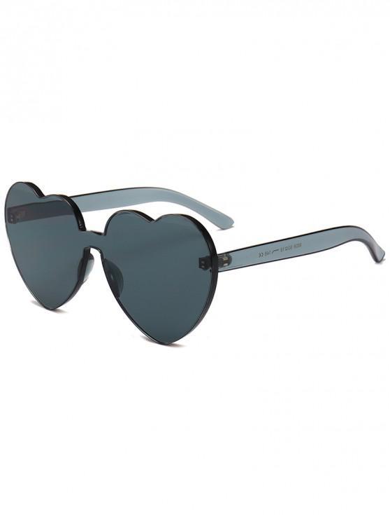 Anti Fatigue Heart Lens Einteilige Sonnenbrille - Grau