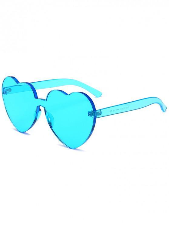 trendy Anti Fatigue Heart Lens One Piece Sunglasses - GLACIAL BLUE ICE