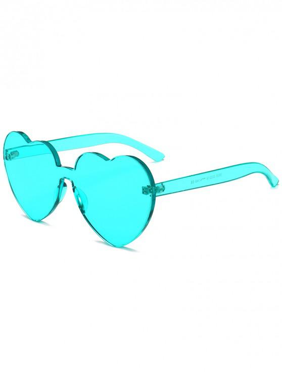 online Anti Fatigue Heart Lens One-piece Sunglasses - LIGHT CYAN