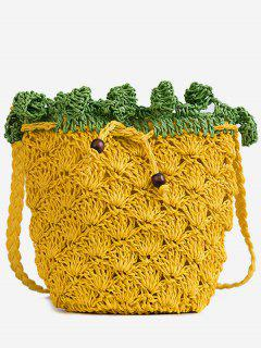 Knitted Pineapple Crossbody Bag - School Bus Yellow